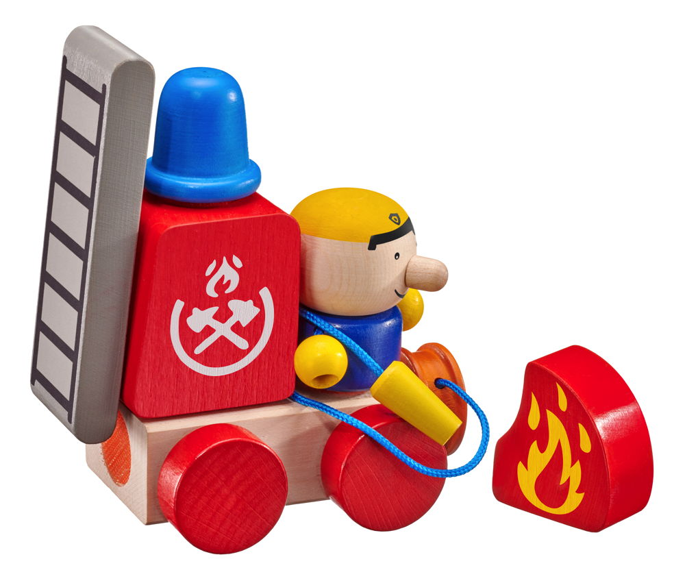 Holzspielzeug Klett-Stapelspielzeug Selecta 62077 Klettini® Feuerwehr