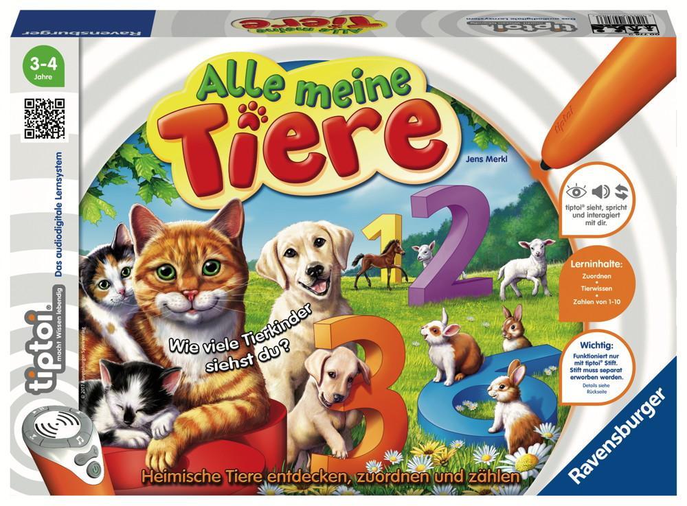 Ravensburger tiptoi Lernspiel Alle meine Tiere 00776