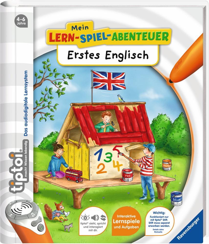 Ravensburger tiptoi Buch Mein-Lern-Spiel-Abenteuer Erstes Englisch 41810