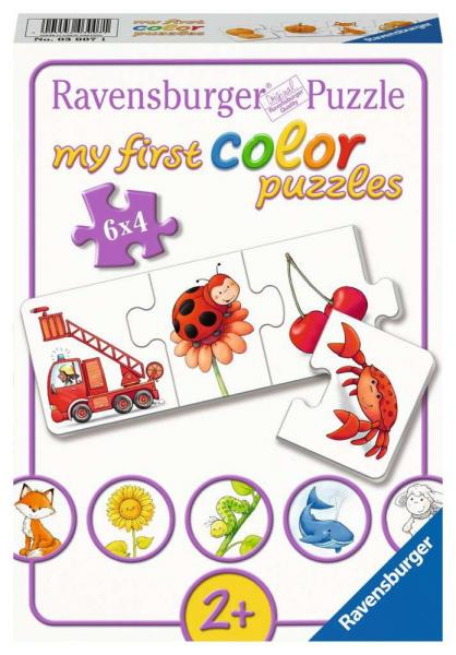 6 x 4 Teile Ravensburger Kinder Puzzle my first color puzzles Alle meine Farben 03007