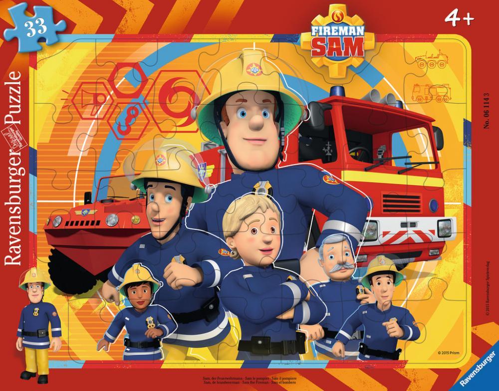 33 Teile Ravensburger Kinder Rahmen Puzzle Feuerwehrmann Sam Sam der Feuerwehrmann 06114