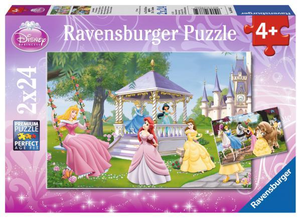 2 x 24 Teile Ravensburger Kinder Puzzle Disney Prinzessinnen Zauberhafte Prinzessinnen 08865
