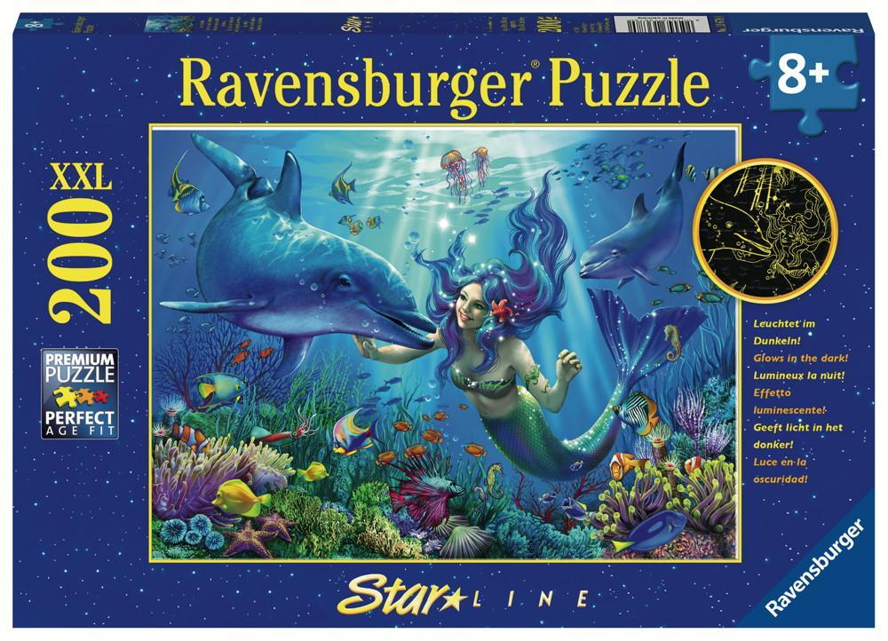 200 Teile Ravensburger Kinder Puzzle XXL Star Line Leuchtendes Unterwasserparadies 13678