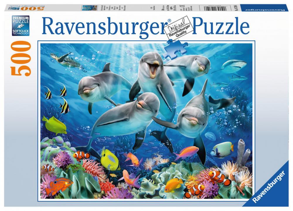 500 Teile Ravensburger Puzzle Delfine im Korallenriff 14710