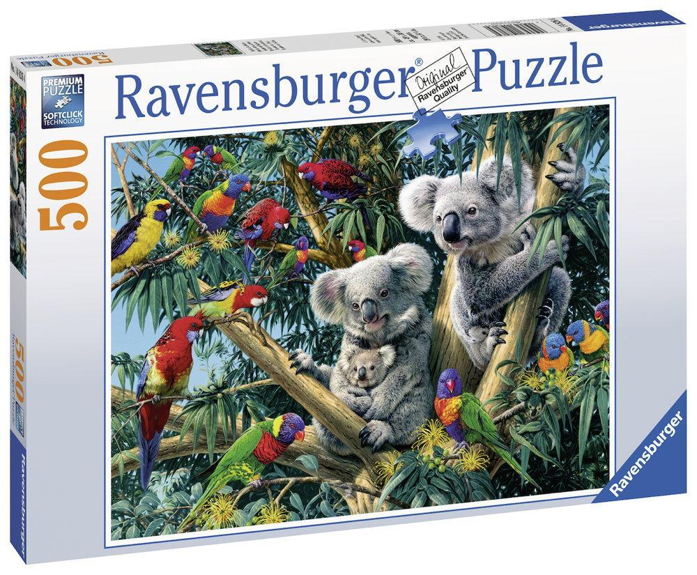 500 Teile Ravensburger Puzzle Koalas im Baum 14826