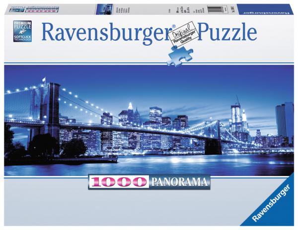 1000 Teile Ravensburger Puzzle Panorama Leuchtendes New York 15050