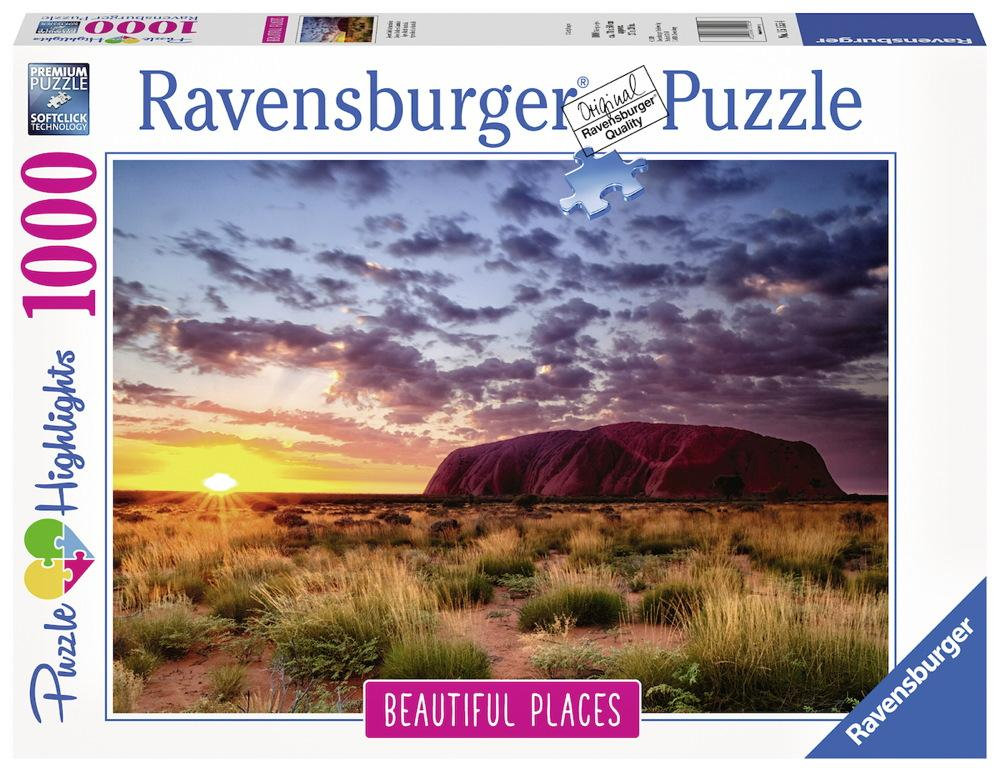 1000 Teile Ravensburger Puzzle Beautiful Places Ayers Rock in Australien 15155
