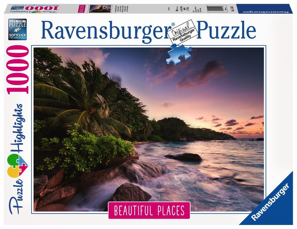 1000 Teile Ravensburger Puzzle Beautiful Places Insel Praslin auf den Seychellen 15156