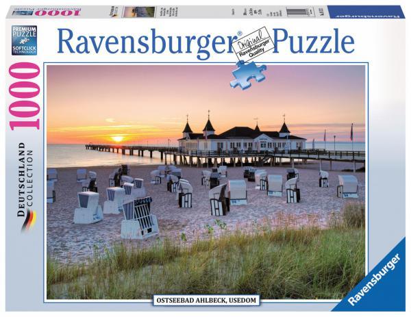 1000 Teile Ravensburger Puzzle Ostseebad Ahlbeck, Usedom 19112