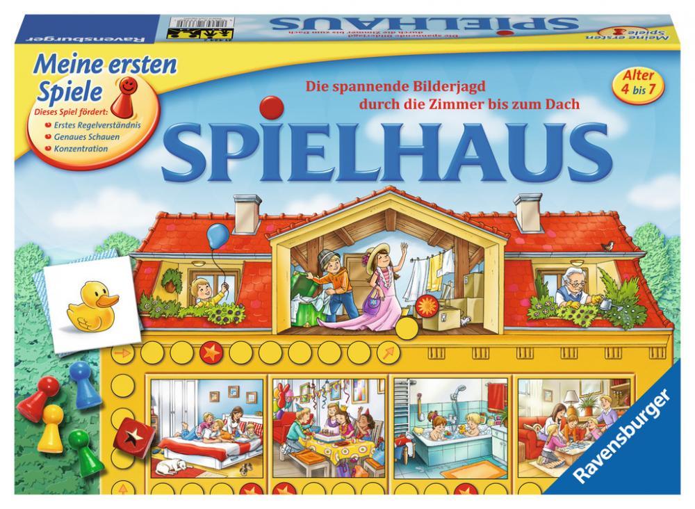 Ravensburger Meine ersten Spiele Würfellaufspiel Spielhaus 21424
