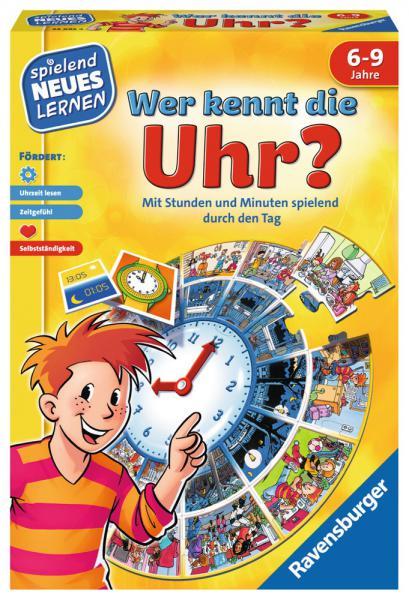 Ravensburger Spielend Neues Lernen Uhrzeit-Lernspiel Wer kennt die Uhr? 24995
