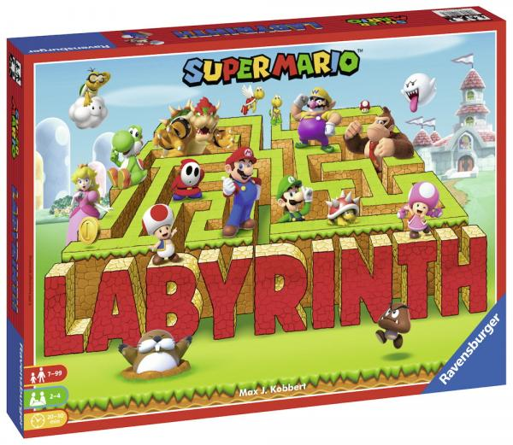 Ravensburger Familienspiel Legekartenspiel Super Mario Labyrinth 26063