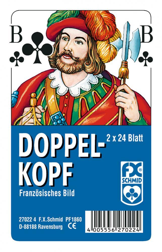 2 x 24 Blatt Ravensburger FX Schmid Spielkarten Doppelkopf Französisches Bild Etui 27022