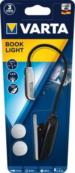 Varta Leselampe LED Book Light inkl. 2x CR2032 Batterien 16618 16618101421
