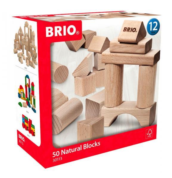 Brio Kleinkindwelt Holz Bausteine Natur Holzbausteine 50 Teile 30113