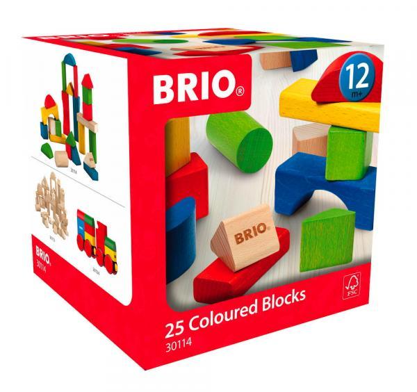 Brio Kleinkindwelt Holz Bausteine Bunte Holzbausteine 25 Teile 30114