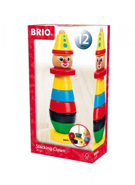 Brio Kleinkindwelt Holz Steckspielzeug Clown 9 Teile 30120