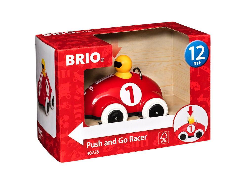 Brio Kleinkindwelt Holz Rollspielzeug Push & Go Rennwagen 30226