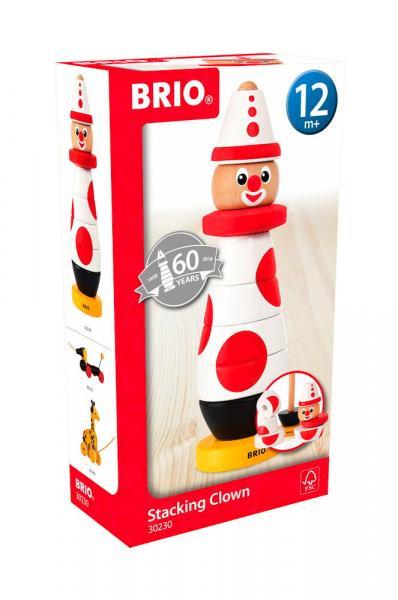 Brio Kleinkindwelt Holz Stapelspielzeug Clown 60. Geburtstag 9 Teile 30230