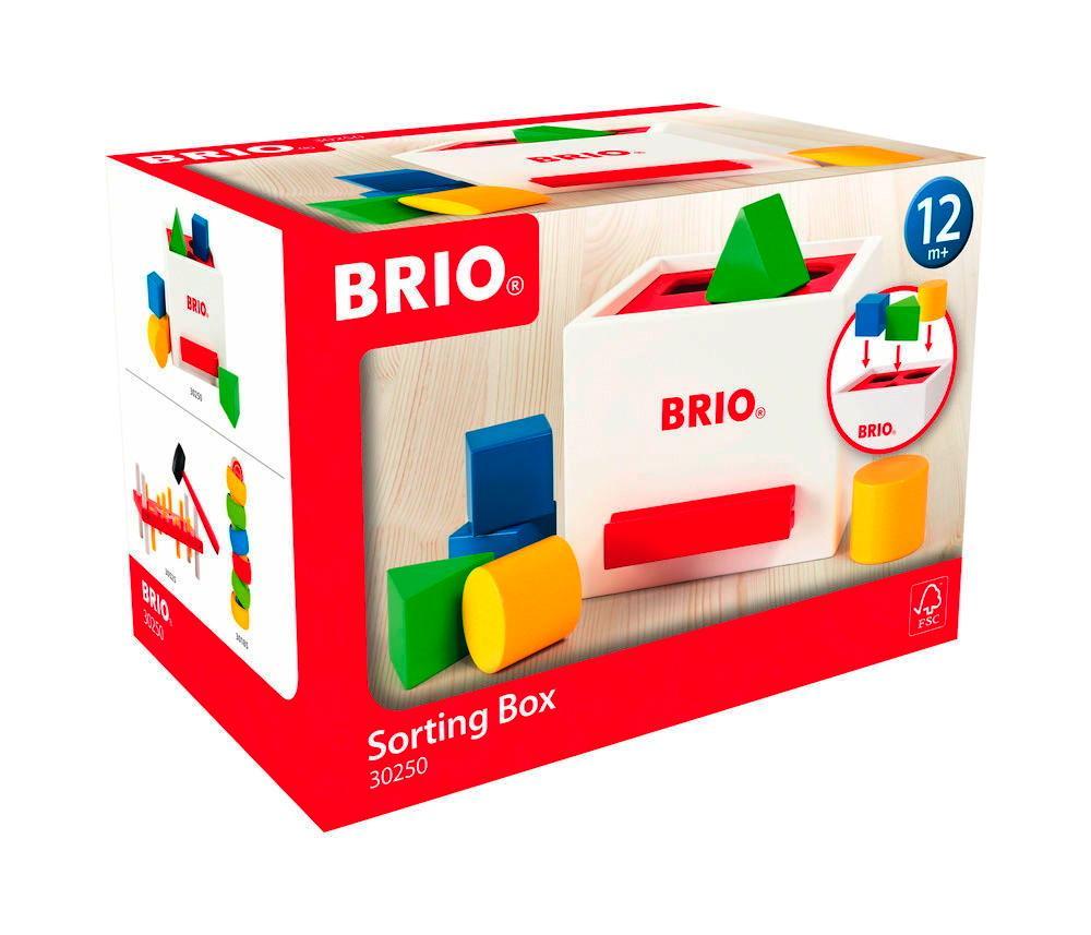 Brio Kleinkindwelt Holz Sortierbox weiße Sortierbox 7 Teile 30250