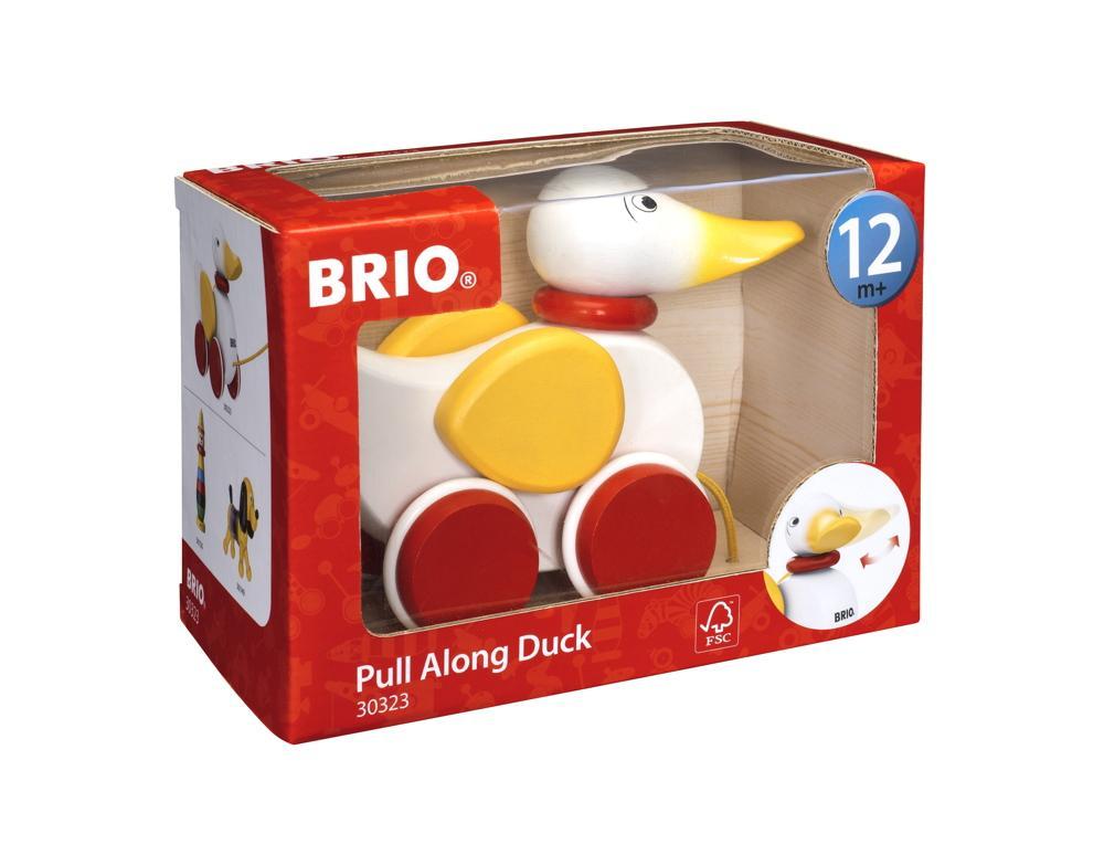 Brio Kleinkindwelt Holz Nachziehspielzeug Nachzieh Ente 30323
