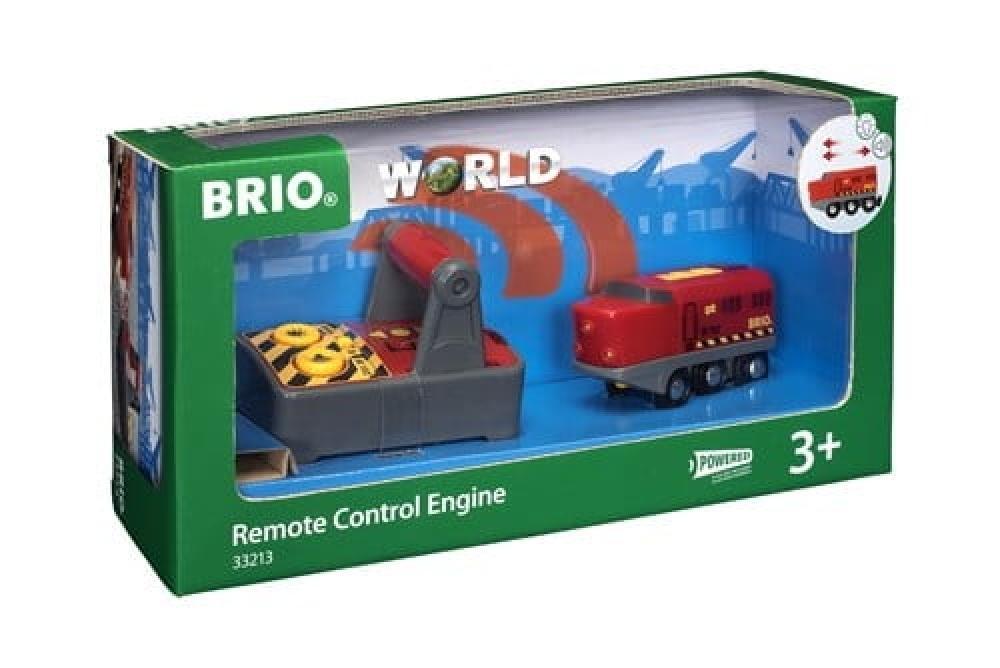 Brio World Eisenbahn Lok IR Frachtlok mit Fernsteuerung 2 Teile 33213