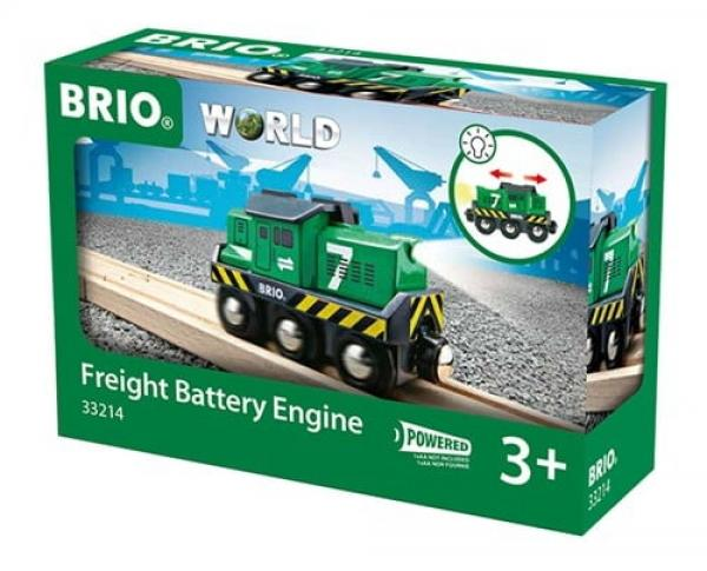 Brio World Eisenbahn Lok Batterie Frachtlok 33214