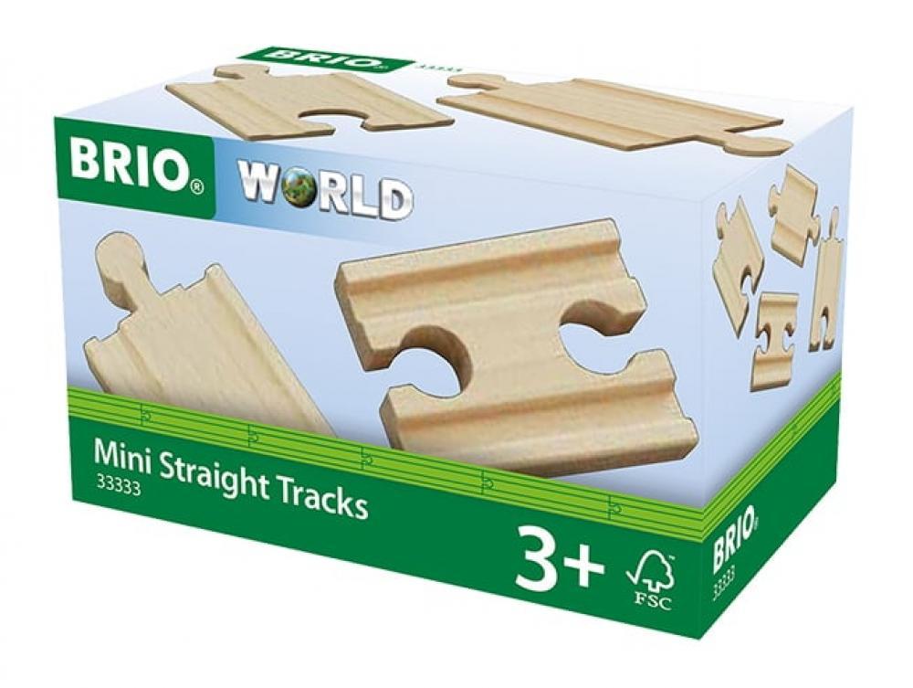 Brio World Eisenbahn Schienen 1/4 Gerade Mini Gleise (A2,B2,C2) 4 Teile 33333
