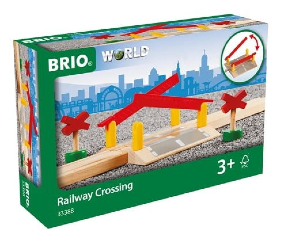 Brio World Eisenbahn Zubehör Bahnübergang 4 Teile 33388