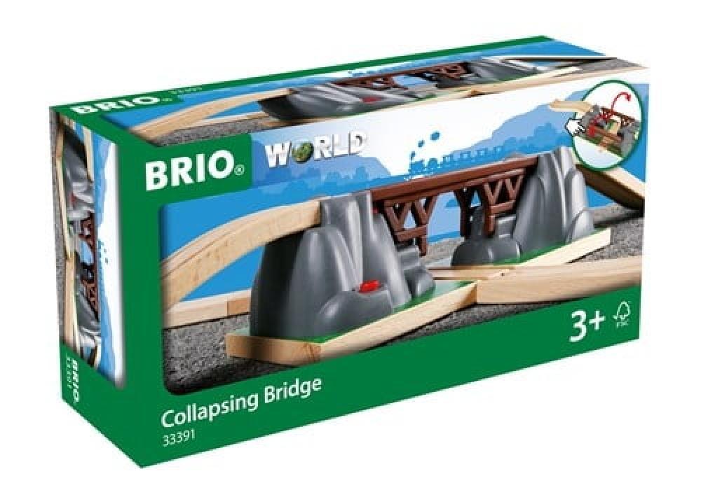 Brio World Eisenbahn Brücke Einsturzbrücke 3 Teile 33391