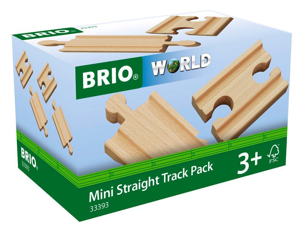 Brio World Eisenbahn Schienen 1/4 Ausgleichsschienen Mix 4 Teile 33393