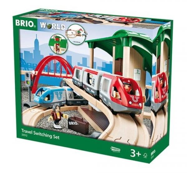 Brio World Eisenbahn Set Großes Bahn Reisezug Set 42 Teile 33512