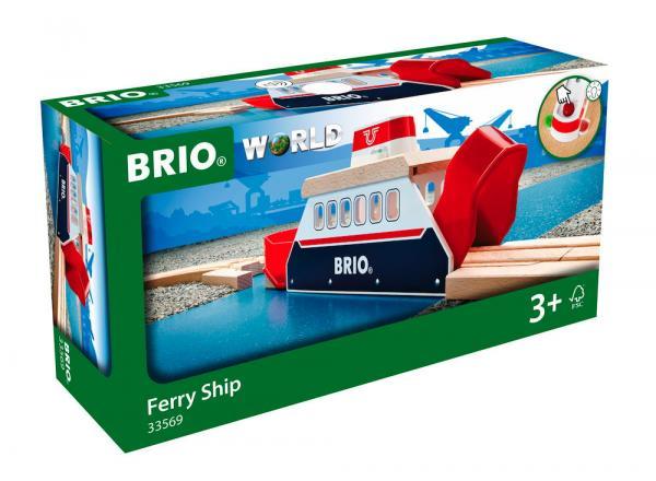 Brio World Eisenbahn Fähre Licht und Sound Fähre 3 Teile 33569