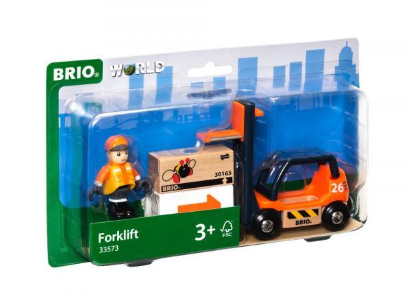 Brio World Eisenbahn Fahrzeug Gabelstapler 4 Teile 33573