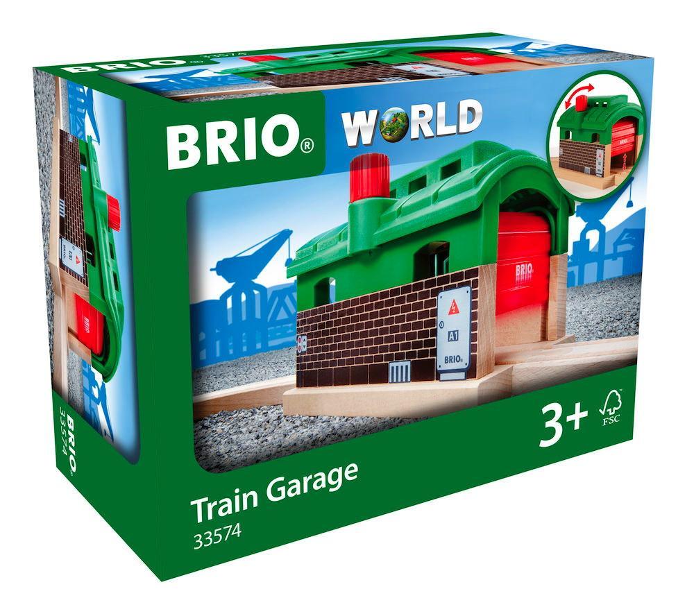Brio World Eisenbahn Gebäude Lokschuppen mit Rolltor 33574