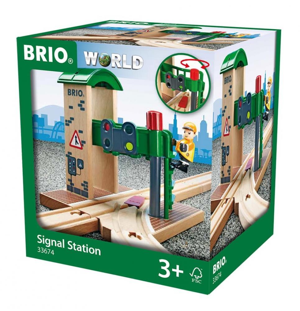 Brio World Eisenbahn Gebäude Signal Station 2 Teile 33674