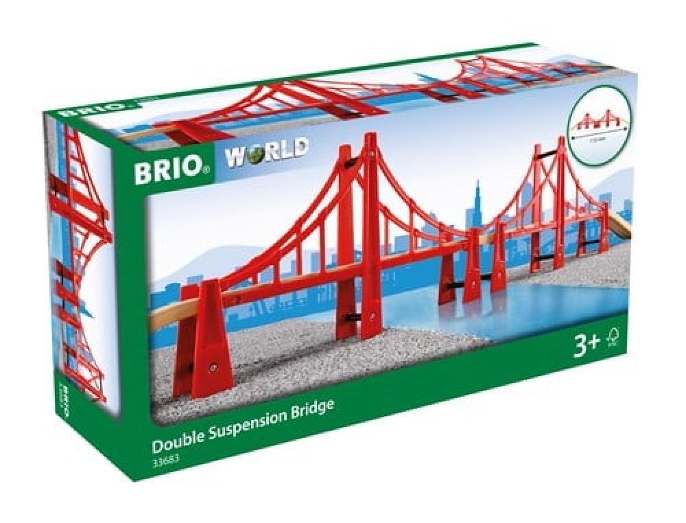 Brio World Eisenbahn Brücke Hängebrücke 5 Teile 33683