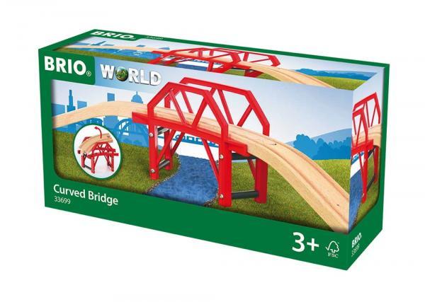Brio World Eisenbahn Brücke Bahnbrücke mit Auffahrten 4 Teile 33699