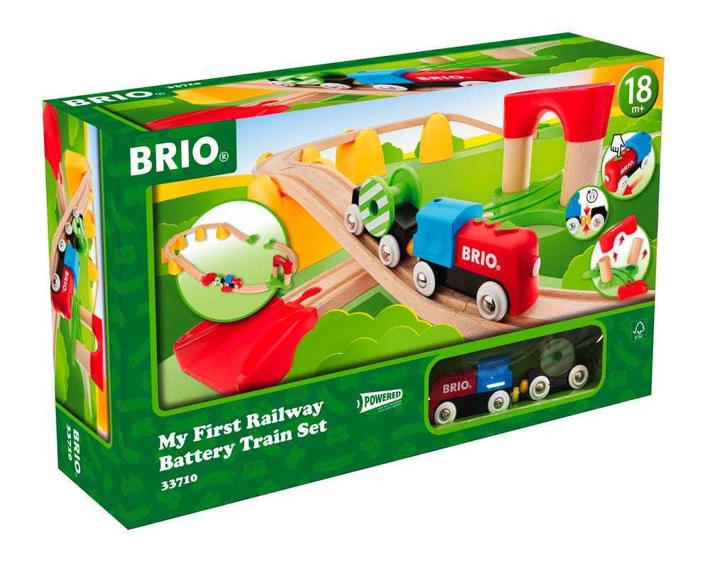 Brio Eisenbahn Meine erste Brio Bahn Set Batterielok 25 Teile 33710
