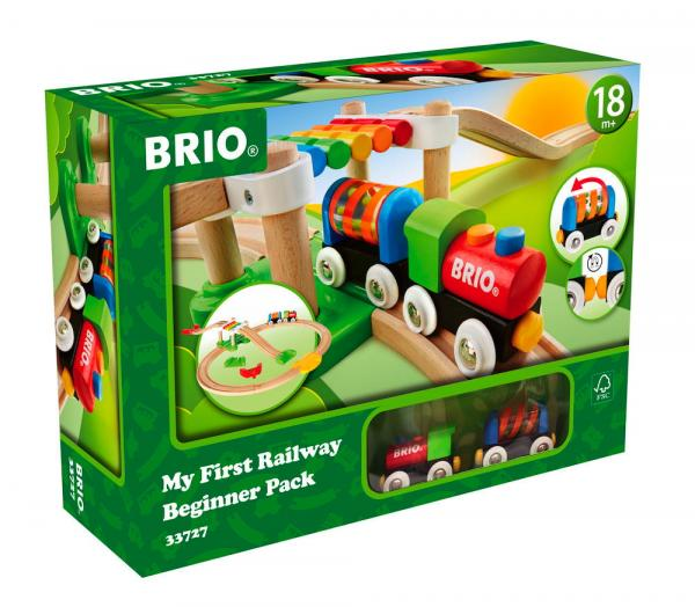 Brio Eisenbahn Meine erste Brio Bahn Set Mein erstes Bahn Einsteiger Set 18 Teile 33727