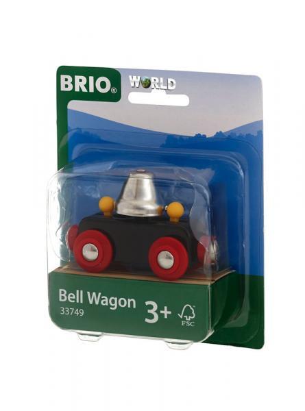 Brio World Eisenbahn Waggon Glockenwagen 33749