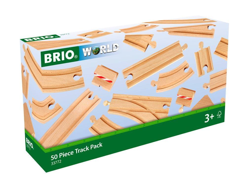 Brio World Eisenbahn Schienen Großes Schienensortiment 50 Teile 33772