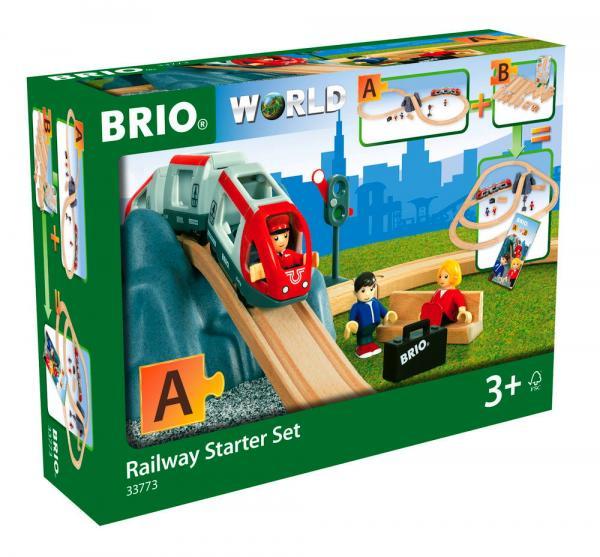 Brio World Eisenbahn Set Eisenbahn Starter Set A 26 Teile 33773