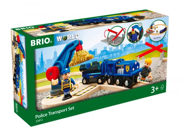 Brio World Eisenbahn Set Polizei Goldtransport-Set 17 Teile 33812