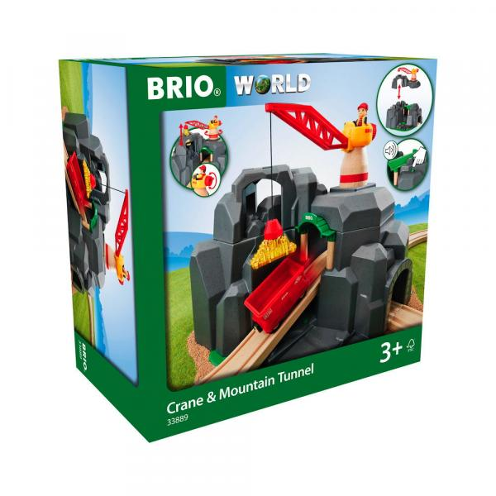 Brio World Eisenbahn Gebäude Große Goldmine mit Sound-Tunnel 7 Teile 33889