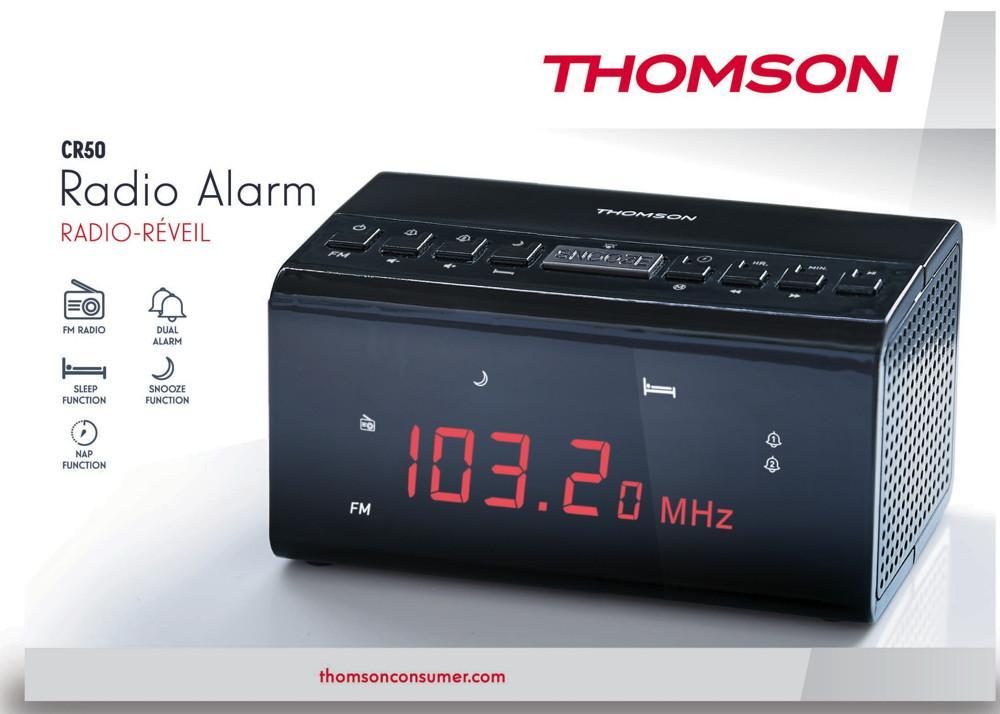 Thomson Radiowecker CR50 schwarz FM Radio TH347968