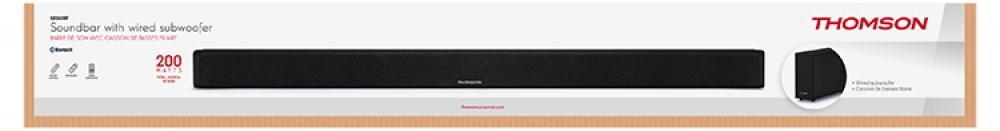 Thomson Bluetooth Soundbar SB250BT 2.1 Soundsystem Subwoofer schwarz TH357707