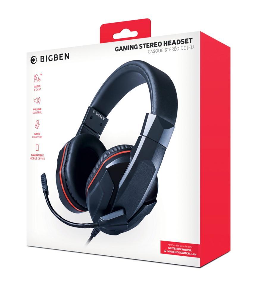 Bigben Nintendo Switch / Switch Lite Stereo Gaming Headset schwarz BB358988