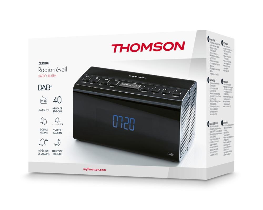 Thomson Radiowecker CR50DAB DAB+ Radio Projektor schwarz TH380187