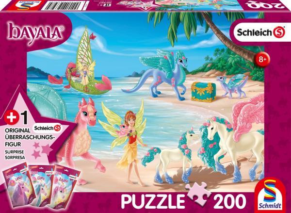 200 Teile Schmidt Spiele Kinder Puzzle Schleich Bayala Dracheninsel mit Figur 56397